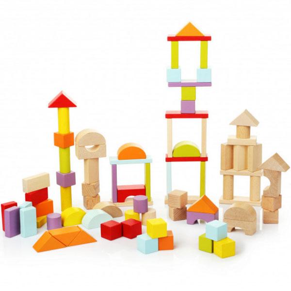 Cubika Drvene Kocke Blokovi (80 elemenata) 13821 - ODDO igračke