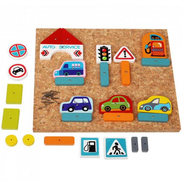 Cubika Drvena Razvojna Igračka SAOBRAĆAJ (30 elemenata) 13883 - ODDO igračke