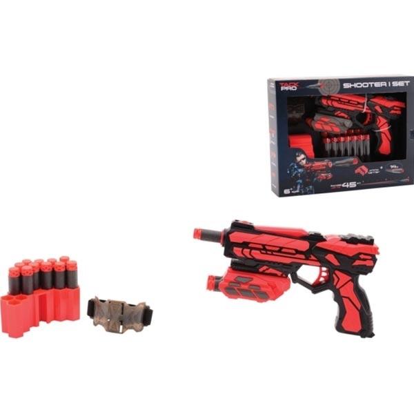 Tack Pro Shooter Pištolj 18cm sa dodacima I 14 sunđerastih metaka 31055 - ODDO igračke