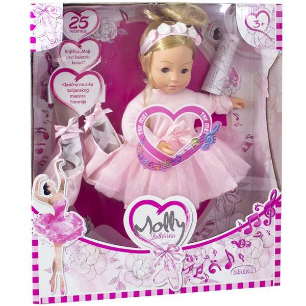 Bambolina Molly Balerina sa preko 100 reči 40cm DI1338 - ODDO igračke