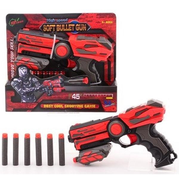 Pistolj Serve & Protect 23 cm+mekane strelice 6 kom 33819 - ODDO igračke