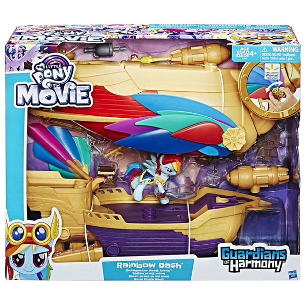 My Little Pony Rainbow Dash Pirate Ship C1059EU40 - ODDO igračke