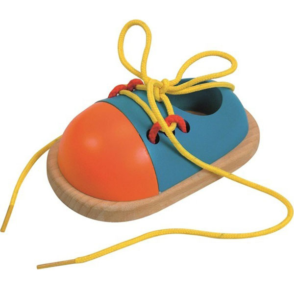 Cipelica na šniranje drvena Woody 90625 - ODDO igračke