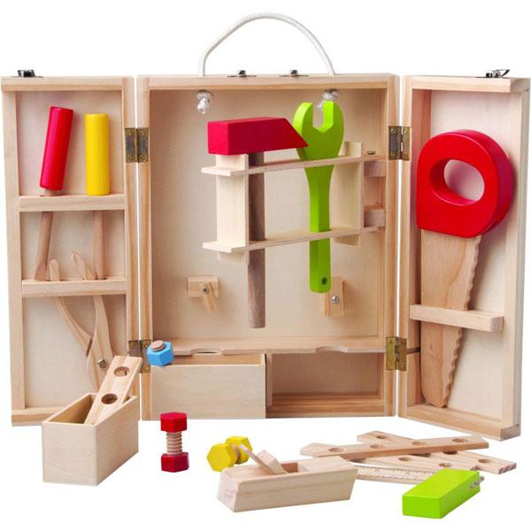 Alat set u drvenoj kutiji Woody 91188 - ODDO igračke