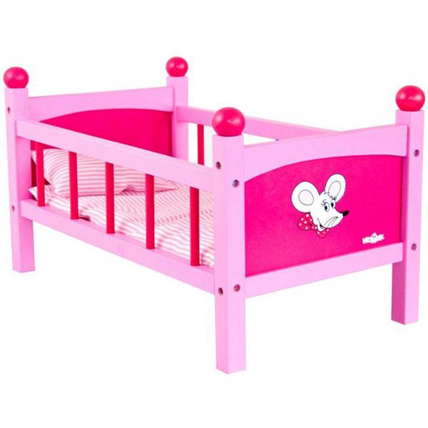 Krevet za lutke sa jastukom i jorganom Woody 91300 - ODDO igračke