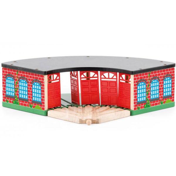 Woody Drvena Garaža za Vozove 91811 - ODDO igračke