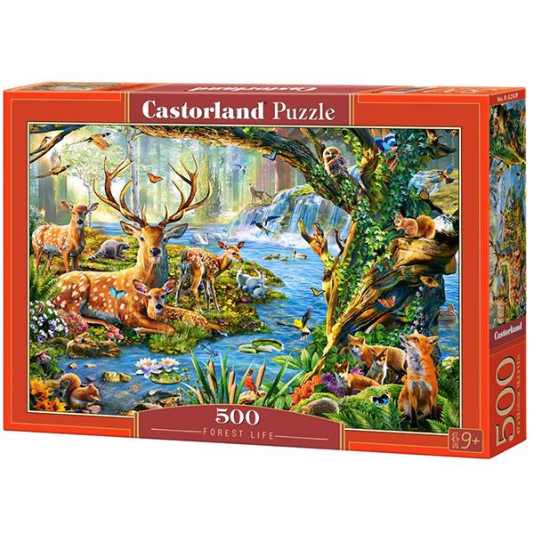 Castorland puzzla 500 Pcs Forest Life B-52929 - ODDO igračke