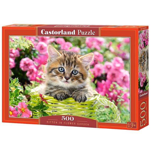 Castorland puzzla 500 Pcs Kitten in Flower Garden B-52974 - ODDO igračke