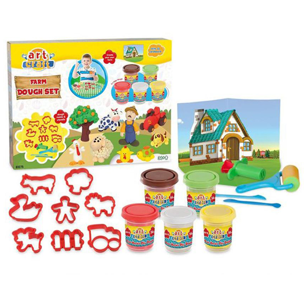 Plastelin Play Dough Dede Farm Set 032758 - ODDO igračke