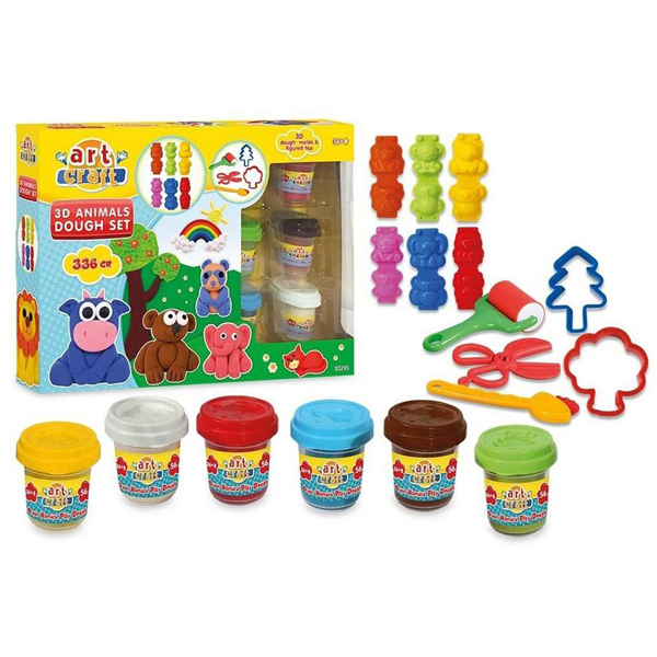 Plastelin Play Dough Dede 3D Animals 032956 - ODDO igračke