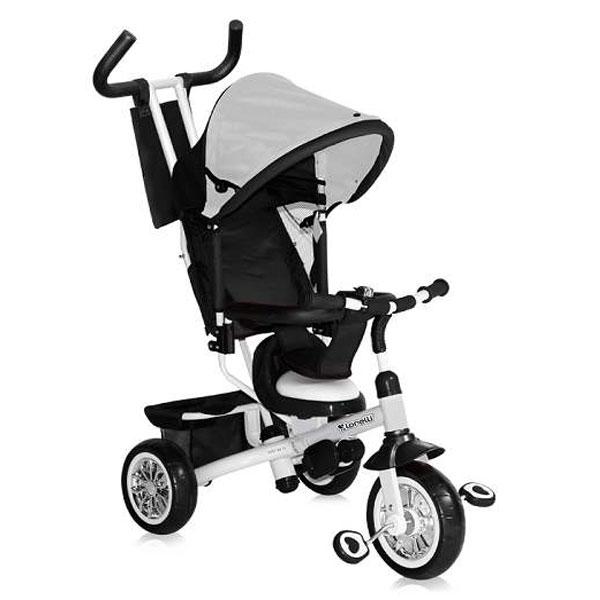 Tricikl sa ručkom i tendom B302A Black & White 10050091604 - ODDO igračke