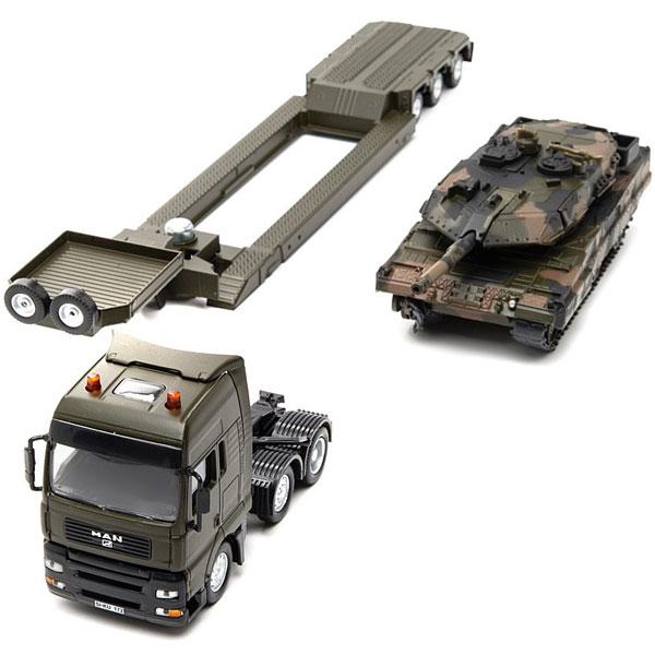 Siku Vojni transporter sa tenkom 8612S - ODDO igračke