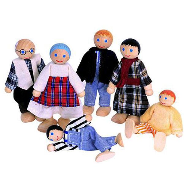Lutke za kućicu Farma porodica 6 komada Woody 90620 - ODDO igračke