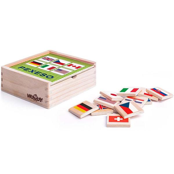 Memorijska igra - zastave Woody 93058 - ODDO igračke