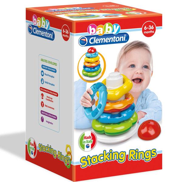 Mekane gumene kocke Clemmy Prstenovi za slaganje CL17103 - ODDO igračke