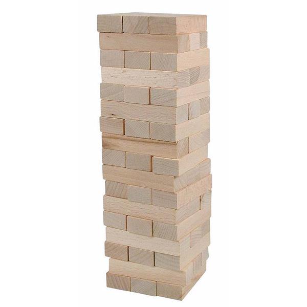 Drvene kocke toranj Tony - neutralne Woody 10100 - ODDO igračke