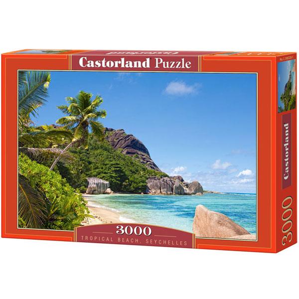 Castorland puzzla 3000 Pcs Tropical Beach, Seychelles 300228 - ODDO igračke