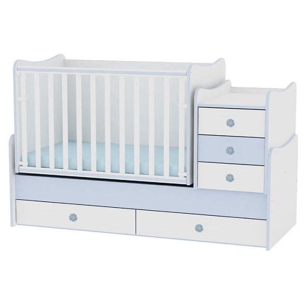 Drveni Krevetac Maxi Plus White-Blue 10150300022 - ODDO igračke