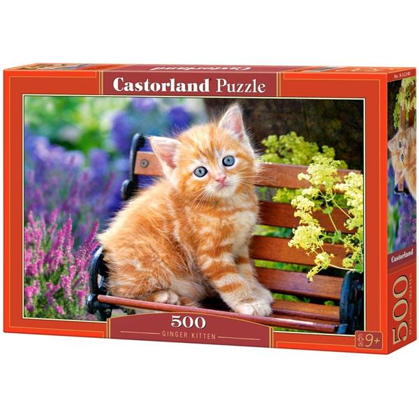 Castorland puzzla 500 Pcs Ginger Kitten 52240 - ODDO igračke