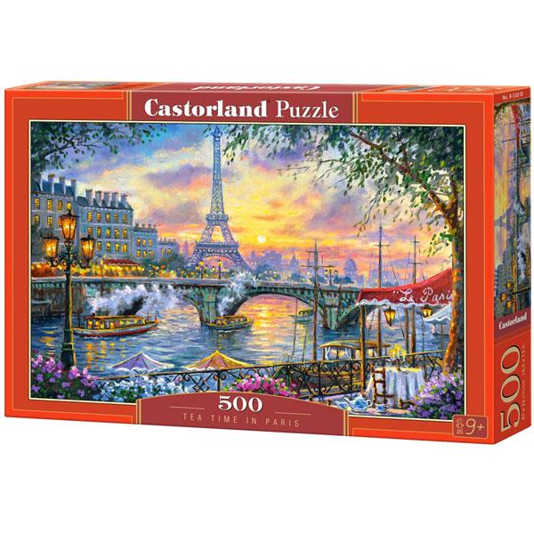 Castorland puzzla 500 Pcs Tea Time in Paris 53018 - ODDO igračke
