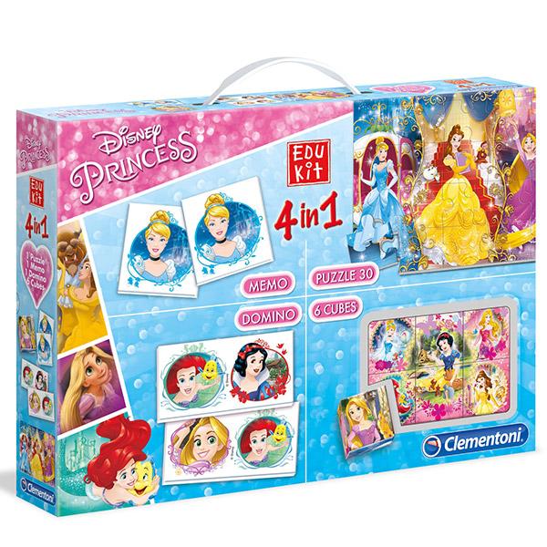 Clementoni set Princess 4u1 13256 Kocke Puzzle Memo Dimino - ODDO igračke