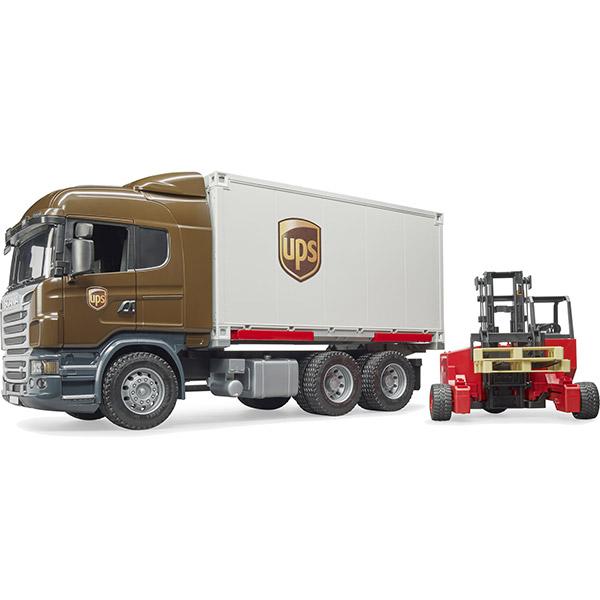 Kamion Bruder Scania R-Series UPS Logistics sa Viljuškarom 035815 - ODDO igračke
