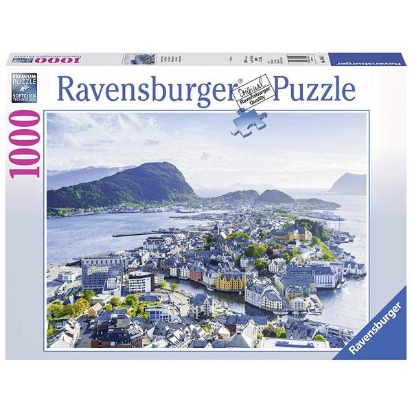 Ravensburger puzzle (slagalice) Pogled na Alesund 1000pcs RA19844 - ODDO igračke