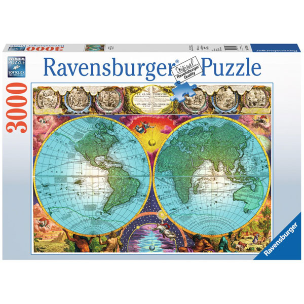 Ravensburger puzzle (slagalice) Mapa sveta 3000pcs RA17074 - ODDO igračke