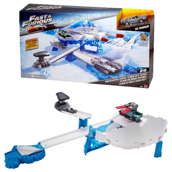 Auto staza Fast and Furious Street Scenes Frozen Missile Attack FCP18 - ODDO igračke