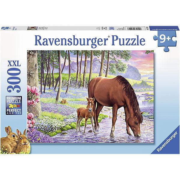 Ravensburger puzzle (slagalice) XXL 300pcs Konji Serene Sunset RA13242 - ODDO igračke