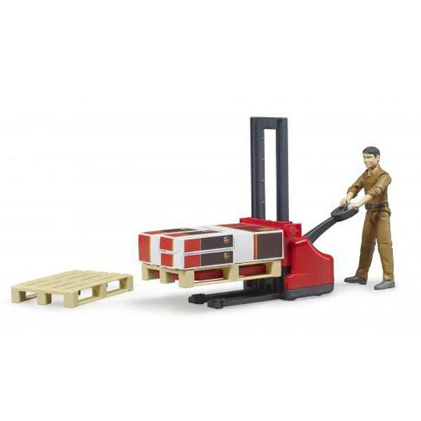 Ručni Paletar Bruder sa figurom magacionera 622107 - ODDO igračke