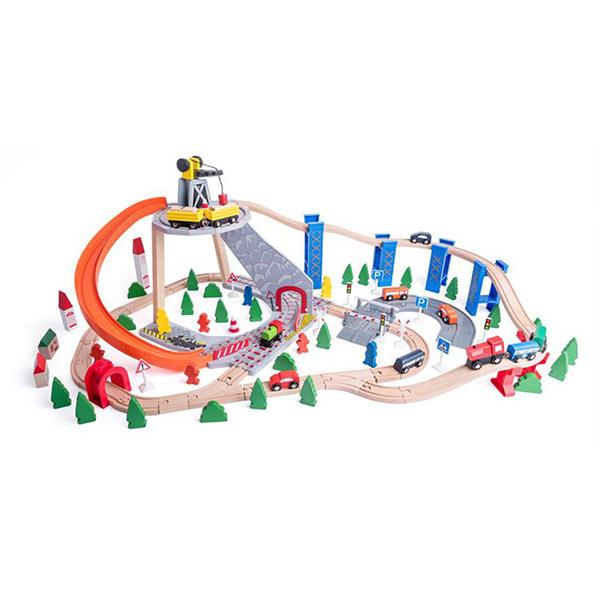 Vozna Pruga Drveni Woody Set 90588 - ODDO igračke