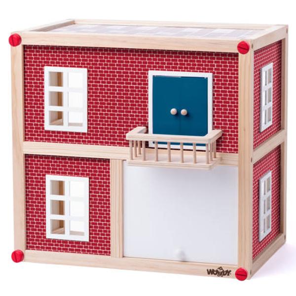 Woody Drvena Moderna Kućica za Lutke Bez Krova 91330  - ODDO igračke