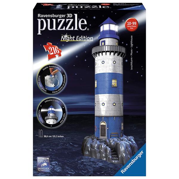 Ravensburger 3D puzzle (slagalice) Night Edition - Svetionik RA12577  - ODDO igračke