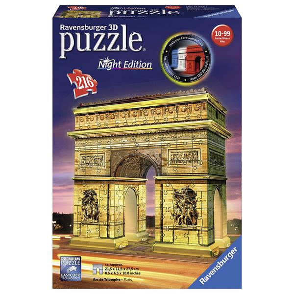 Ravensburger 3D puzzle (slagalice) 216pcs Trijumfalna kapija noću RA12522   - ODDO igračke