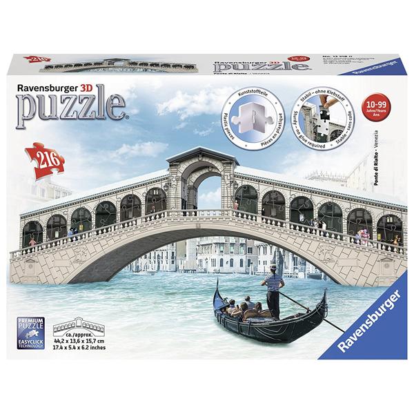 Ravensburger 3D puzzle (slagalice) 216pcs Rialto most RA12518  - ODDO igračke