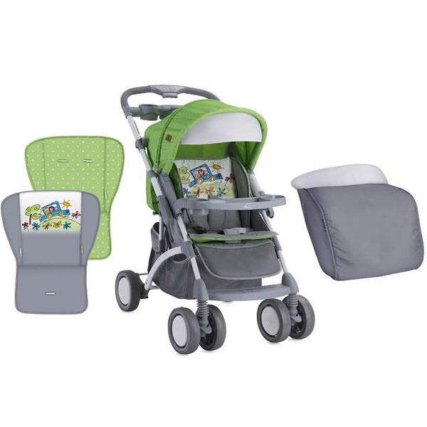 Kolica Apollo green&grey car + torba za mame Bertoni 10020901714 - ODDO igračke