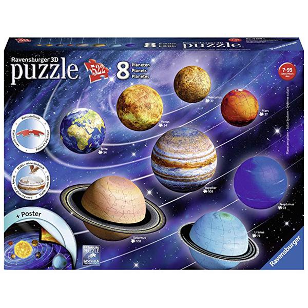 Ravensburger 3D puzzle (slagalice) - Solarni sitem RA11668  - ODDO igračke