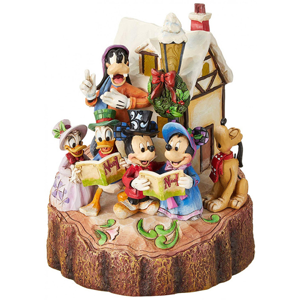 Jim Shore Holiday Harmony (Mickey Mouse & Gang Carolling Figurine) 4046025 - ODDO igračke