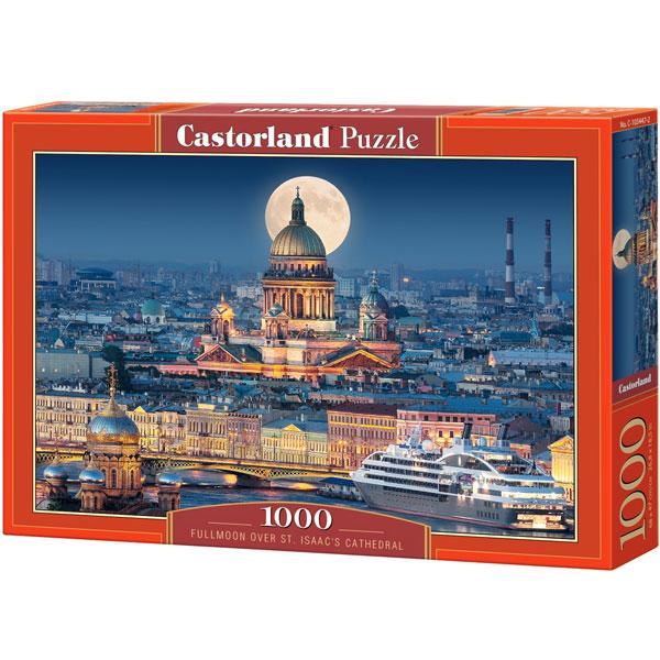 Castorland puzzla 1000 Pcs Fullmoon over St. Isaac s Cathedral, Saint Petersburg 103447 - ODDO igračke