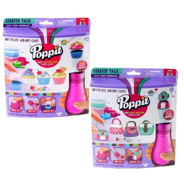Set sa glinom i dodacima Poppit ME17400 - ODDO igračke