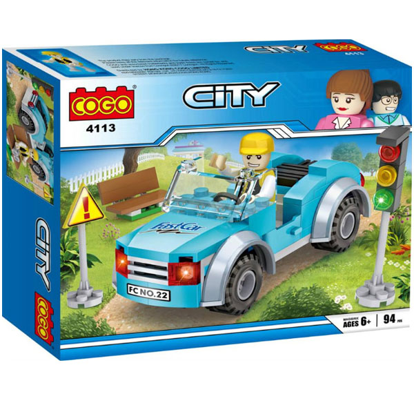 COGO Kocke Automobil i semafor 94pcs 151086 - ODDO igračke