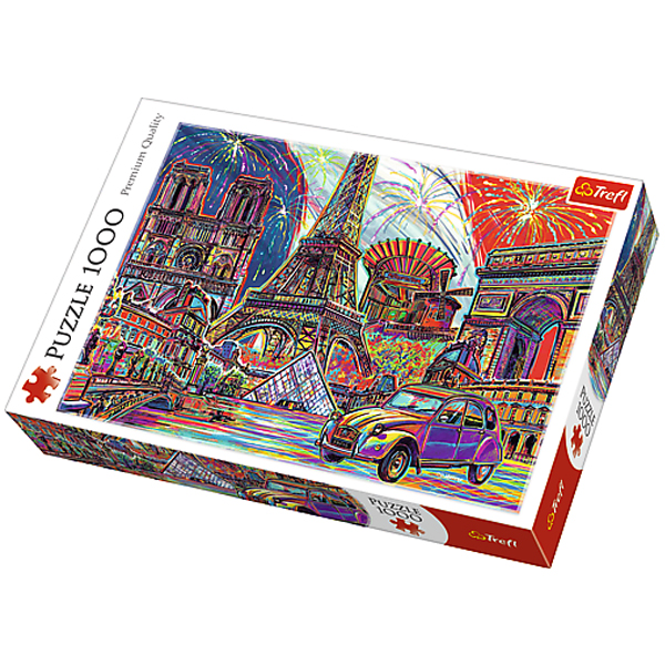 Trefl Puzzle Colours of Paris 1000pcs 10524 - ODDO igračke