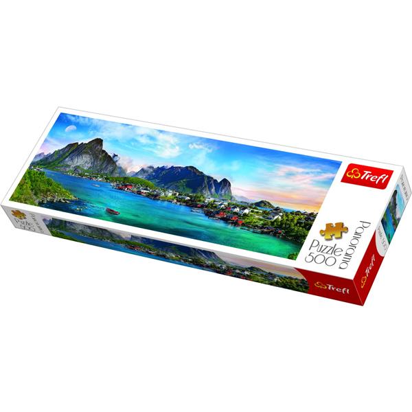 Trefl Puzzla Panorama Lofoten Archipelago, Norway 500pcs 29500 - ODDO igračke