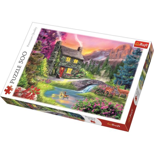 Trefl puzzla Mountain idyll 500pcs 37325 - ODDO igračke