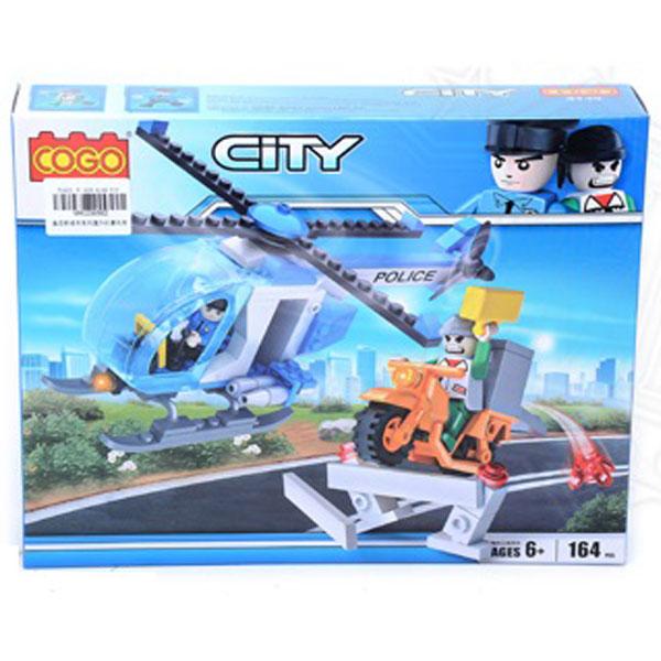 COGO Kocke Policijski helikopter 164pcs 385627 - ODDO igračke