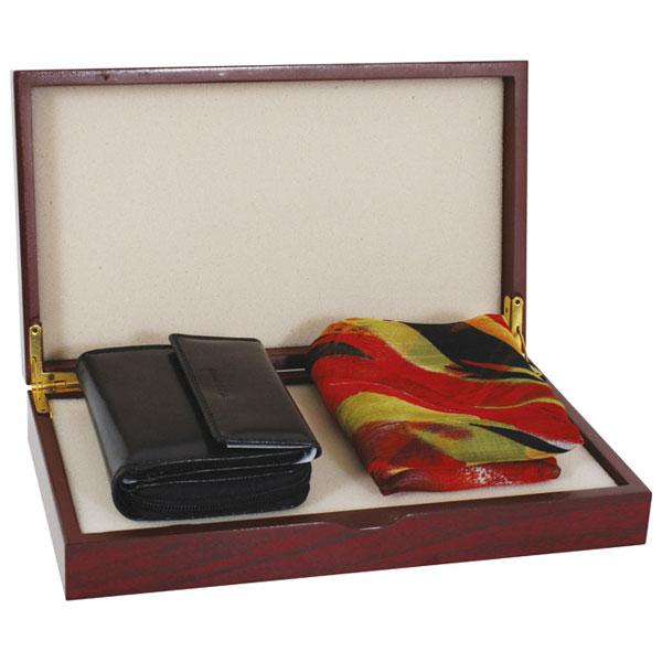 Set kožni ženski 200-1 novčanik+marama Fornax crni 401350 - ODDO igračke