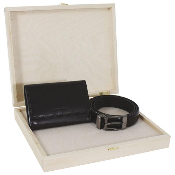 Set kožni ženski 201-1 novčanik+kaiš Fornax crni 401352 - ODDO igračke