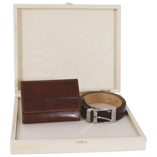 Set kožni ženski 201-2 novčanik+kaiš Fornax braon 401353 - ODDO igračke