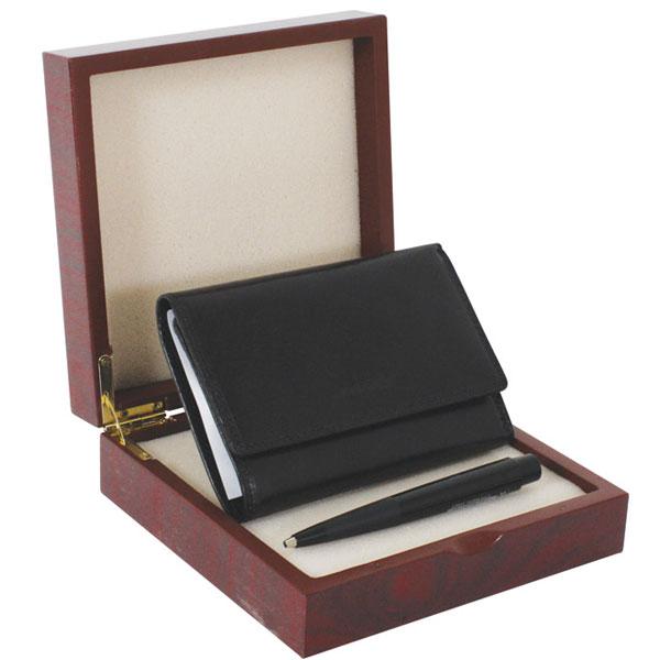 Set kožni ženski 202-1 novčanik+olovka Polly Ball FC crna Fornax crni 401354 - ODDO igračke